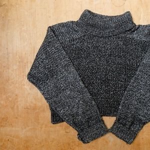 Zara Knit Crop Turtleneck Sweater Size Medium